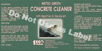 Metso Green Concrete Cleaner, 2.5 lbs jar