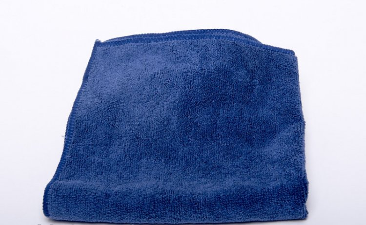 Navy Blue Microfiber Towels, 16x16, case of 200 - Click Image to Close