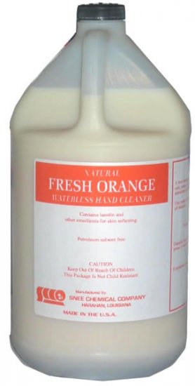Fresh Orange Waterless Hand Cleaner, 4 gal case - Click Image to Close