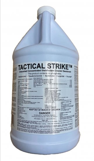 Tactical Strike Concentrated Disinfectant, 1 gal - Click Image to Close
