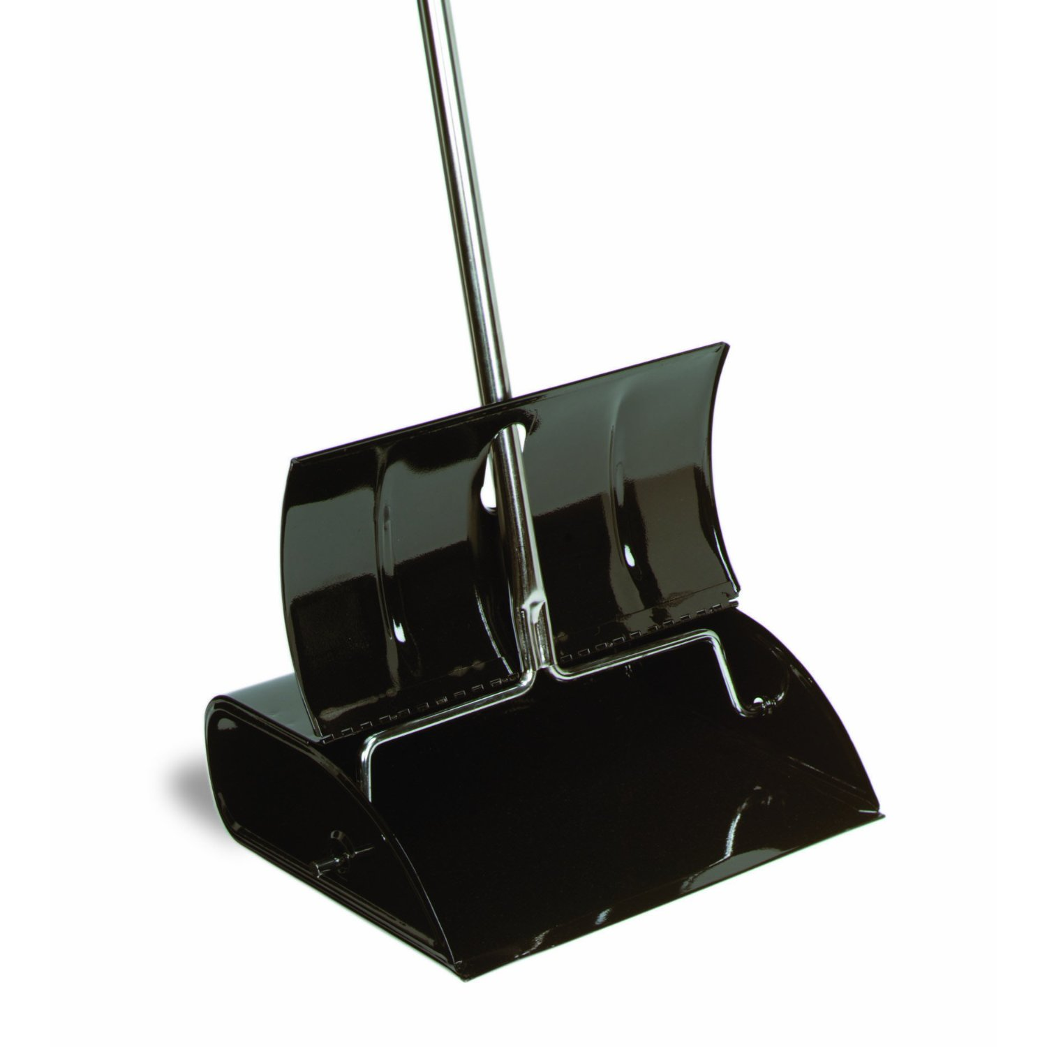 Black Metal Lobby Dust Pan with Lid Commercial, Bulk [CON ...