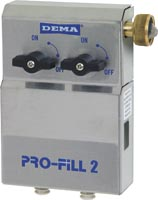 DEMA Pro-Fill 2 Dual Sink Dispenser with GHT Water Inlet Air Gap Model - Click Image to Close