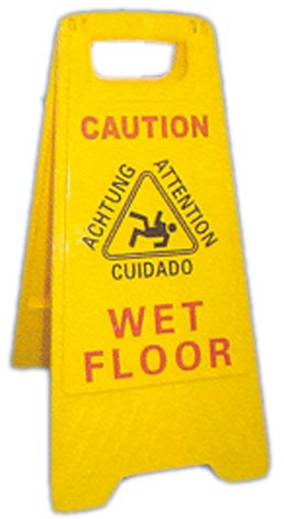 "FS 226W Caution Wet Floor Sign 26"" Tall, case of 6 - Click Image to Close"