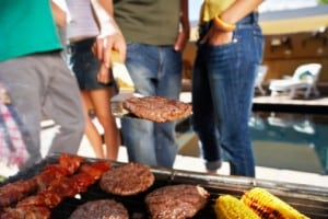 People Grilling Outdoors